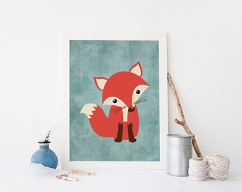 Fox Wall Art fox in galaxy fox printable room decor wall art printable