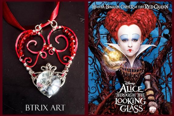 Ciondolo regina rossa alice attraverso lo - Alice e lo specchio ...
