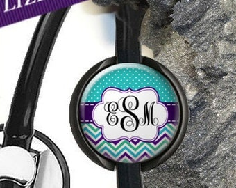Personalized Stethoscope ID Tag,Monogram Stethoscope ID Tag, Nurse Gifts, Doctor Gift Set. Stethoscope Name Tag D1
