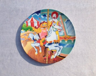 1993 McDonald's Carnival Merry Go Round Carousel Plate