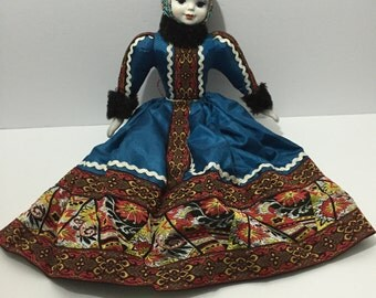 18'' RUSSIAN Costume Hand Painted Porcelain Doll - Figurine