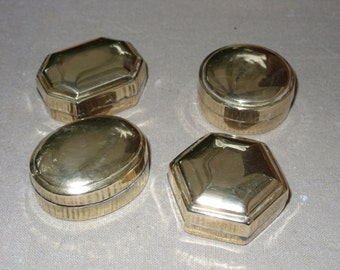 Brass door boxes pads-4 PCs-1970