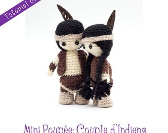 Tutoriel crochet: couple de mini poupées indiennes