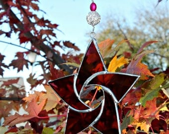 Stained Glass Star Suncatcher, Purple