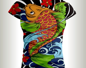Koi Fish T-shirts,Japanese culture,Japanese Koi Fish shirts,Asian design,Japanese designs,Koi Fish Tattoo,Koi Fish,Koi fish ink,Japan.