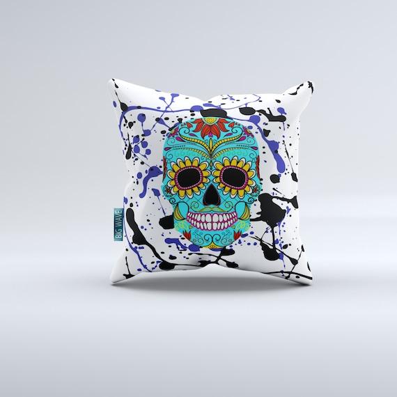Big Comfortable Throw Pillows : Sugar skull pillowscouch pillow throw pillows comfortable
