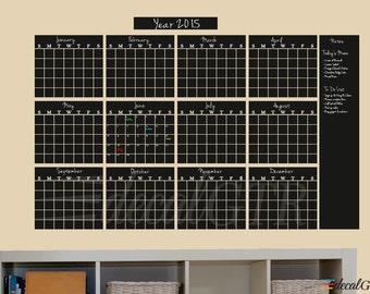 Chalkboard Calendar Yearly Planner Large Chalkboard Calendar