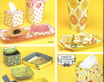 """Fabric Containers Simplicity Uncut Sewing Pattern 4362 Home Decor Various """"Fabric Containers & Trays"""" by Shirley Botsford **Free Shipping**"""