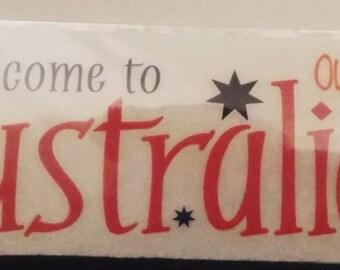 Australia Rub On Transfer Reminisce Phraseology Sydney Down Under Outback Kangaroo