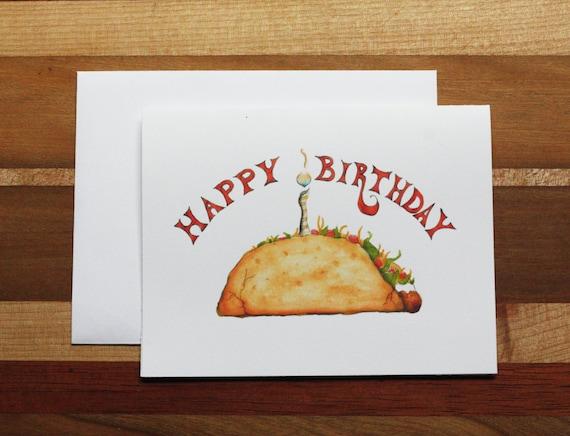 Taco Birthday Card Funny Taco Birthday Taco Cake By