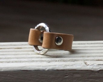Camel Leather Ring