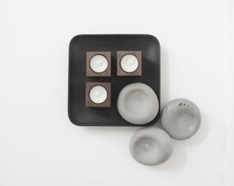 tealight candleholder [walnut]
