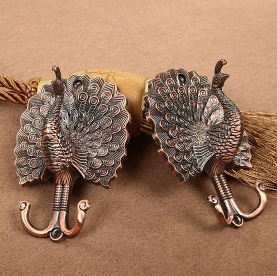 decorative wall hooks peacock decorative wall hook metal wall hooks antique copper 11366