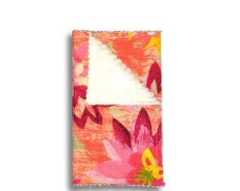 Burp Cloth <<Pink Flowers>> Baby/Toddler/Drool//Light Pink//Yellow//Green//Flowers