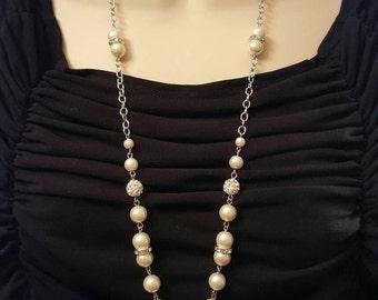 Cross Pendant Beaded Necklace