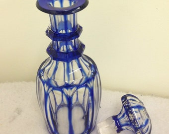 Bohemian etched  glass decanter
