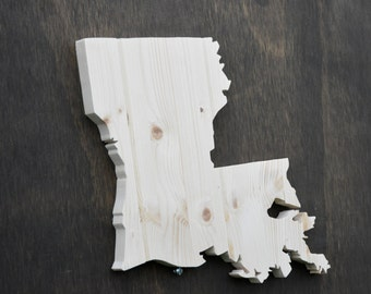 Louisiana State Wood Cutout