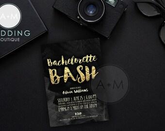 Printable Bachelorette Party Invitation, Bachelorette Invitation, Glitter Bachelorette Invitation, CUSTOMIZED, France