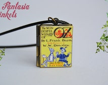 The Wonderful Wizard of Oz Book Locket (custom quote inside) Charm, Keychain or Pendant Necklace