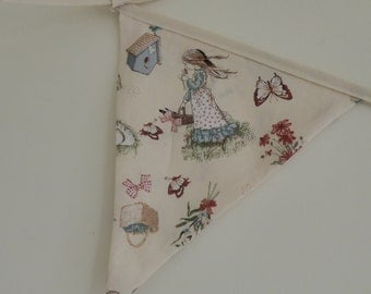 Holly Hobbie Vintage Bunting - Holly Hobbie and friends from 1960's & 1970's