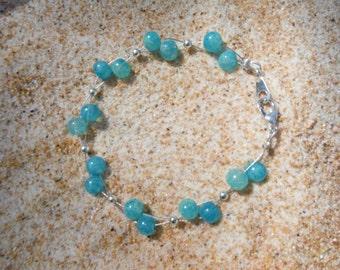 """Sea Spray Double-Strand Bracelet - 8""""   Beach Chic"""