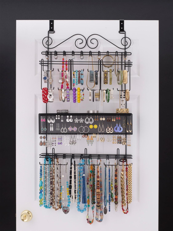 Longstem 6100 Over The Door Wall Closet Jewelry Organizer In