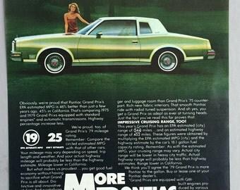 1979 GM Pontiac Grand Prix Print Ad
