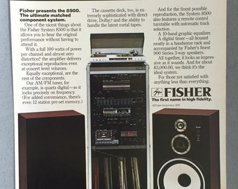 1981 Fisher 8500 Stereo System Print Ad
