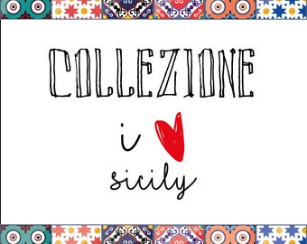 Magnets-collection I love Sicily