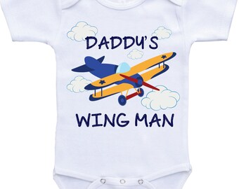 Airplane Daddy and Son Baby Boy Funny baby onesie Daddy Funny Onesie funny baby gift Daddy to be Onesies Baby shower gift Funny baby clothes