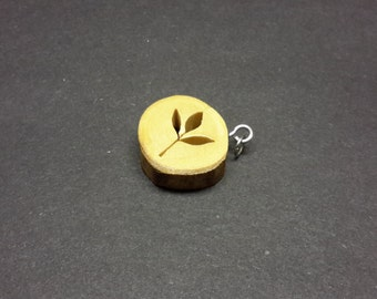 Leaflet Necklace made from Maple - hand cut with scroll saw - FREE SHIPPING