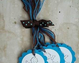 Baby Boy Hang Tags, Set of 6 (Blue)