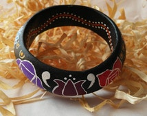 Seven chackras bracelet - Handmade painted bracelet - Pulsera Siete Chackras pintada a mano