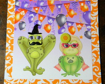 Happy Halloween Greeting Card,Toad-a-ly Halloween Greeting Card, Halloween Greeting Card, Handmade Greeting Cards