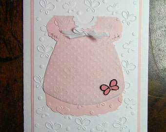 Welcome Baby Girl Greeting Card, New Baby Girl Greeting Card, Congratulations Baby Girl Gift Greeting Card, Handmade Greeting Cards