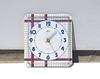 Wonderful French Japy Formica vintage wall clock/ Geometrical pattern / retro clock / Mid century /