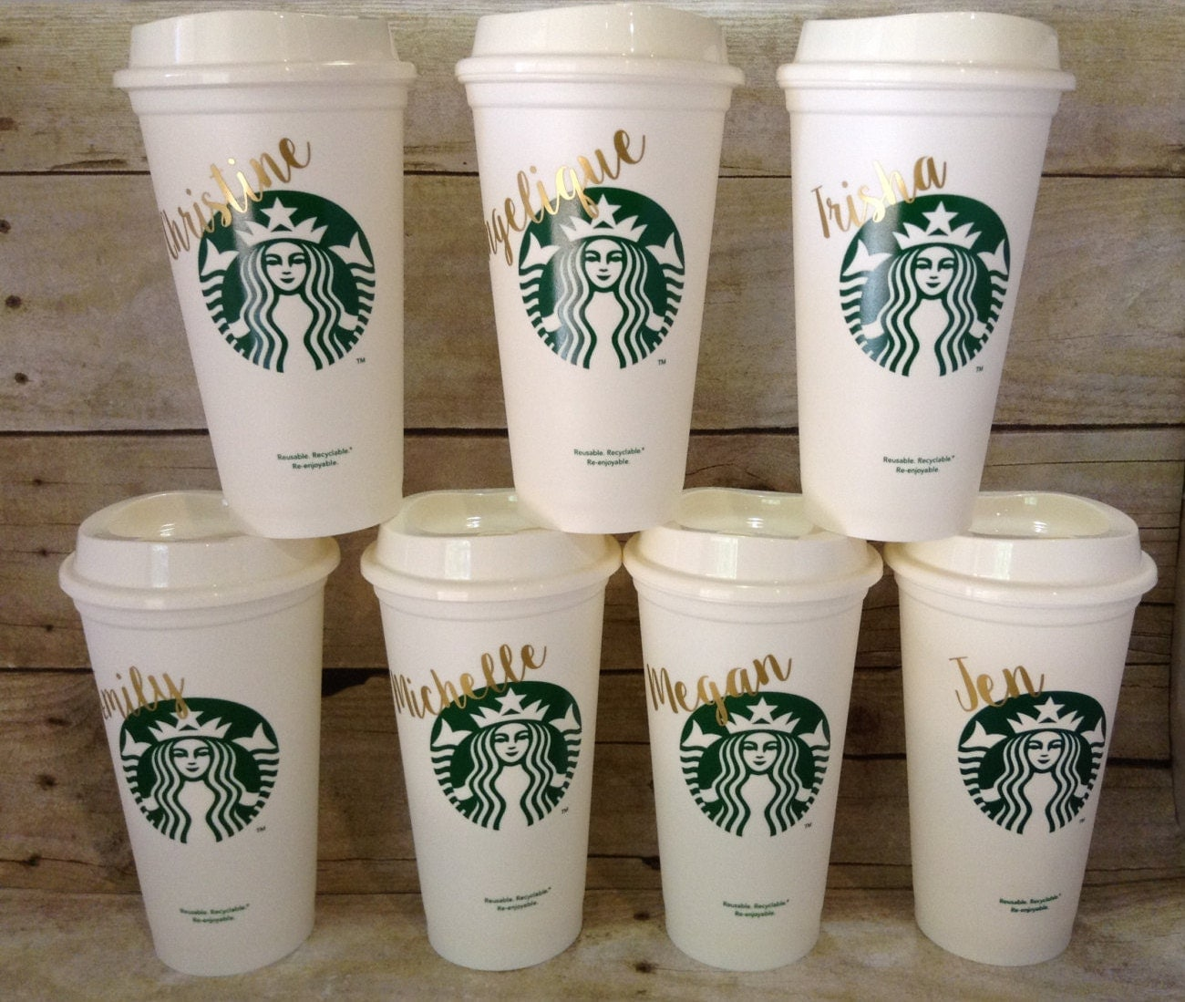 Starbucks tumbler personalized starbucks cup gift by for Starbucks personalized tumbler template