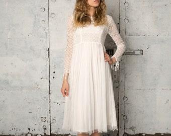 Vintage inspired long sleeved wedding dress, Penny