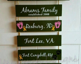 Home is where the Army sends us/you/me, Army Pride, Veteran,  Patriotic Wall Décor, Military Retirement Gift, Duty Station Sign