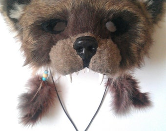SOLD Spirit/Totem Animal (BEAR) Mask (AVAILABLE made to order)