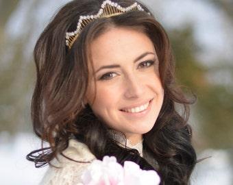 Tiara, bridal tiara,  tiara, wedding headpiece, Wedding headband, crystal headpiece, gift, Wedding Crown, b