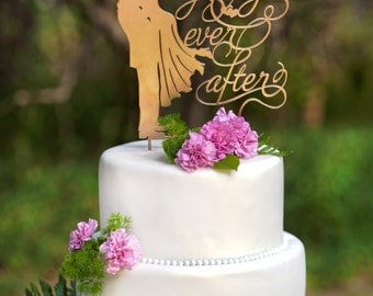Wedding Cake Topper  Happily Ever After