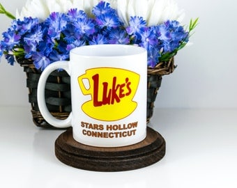 TV Show Mug | Gilmore Girls Mug | Luke's Diner Mug | LUKE'S Diner | Stars Hollow | Gilmore Girls Inspired | Cute Office Deco | Cuevex Mugs
