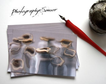 Postcards !!! Photography bluish Hope Shades of gray, taupe and blue Photo of abstract curves. Correspondence cards.