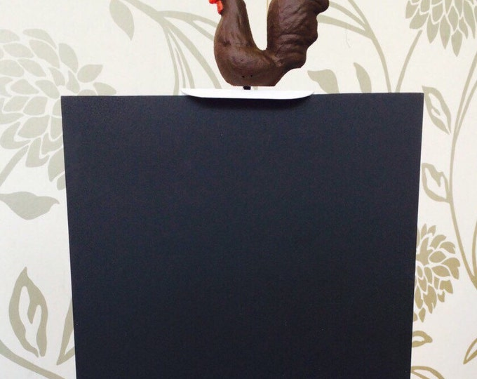 """Freestanding Kitchen or Restaurant Chalk Board Hand Painted Small 14"""" x 7"""""""