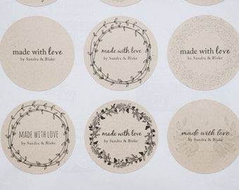 Made with Love Stickers - Product / Gift Labels