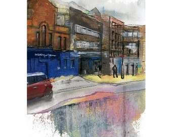 Manchester New Wakefield Street - Contemporary limited edition print.