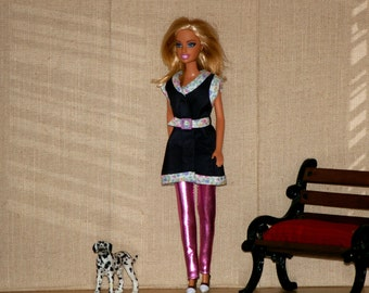 Dark blue raincoat-Barbie