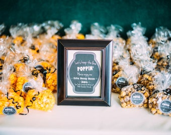 Wedding Popcorn Bags, Personalized Popcorn Bags, Custom