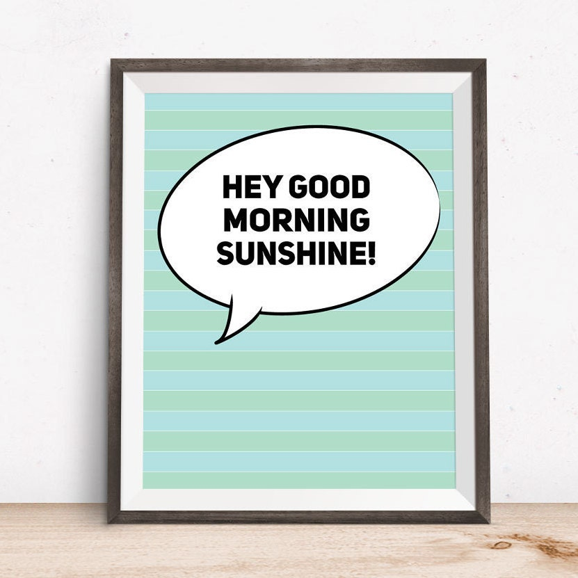 Good Morning Sunshine Words : Word art sayings good morning sunshine wall prints by